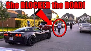 Angry KAREN Tries to Stop RACECAR BIRTHDAY PARADE for Kids!! **COPS CALLED, KARENS ARRESTED**