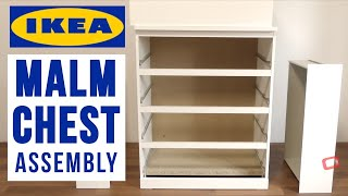 IKEA MALM 4 Chest Of Drawers Assembly - IKEA Dressers And Storage Drawers