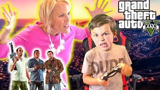 Angry GTA 5 Mom - Kid Buys Grand Theft Auto 5 With Moms Credit Card