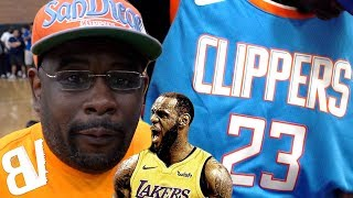 LEBRON DECISION Has Clippers SUPERFAN HURT! Custom Jersey THROWN AWAY!