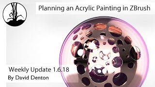 Planning an Acrylic Painting in ZBrush Part 1