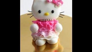 Fondant Hello Kitty For Girls Birthday Party