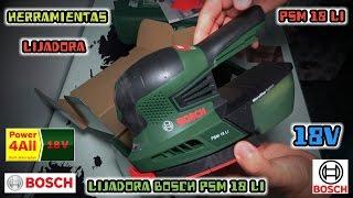 Unboxing Lijadora Bosch PSM 18 LI Cordless Multi Sander