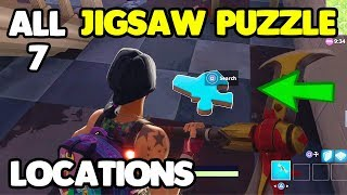"""ALL 7 JIGSAW PUZZLE LOCATIONS! Fortnite """"Search Jigsaw Puzzle Pieces in Basements"""" Week 10"""