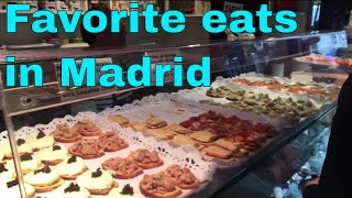 My top best food places and quick eats in Madrid Spain | VIDEO OVERVIEW