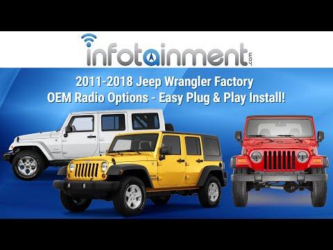 2011-2016 Jeep Wrangler Factory OEM Radio Options - Plug & Play! Removal & Installation