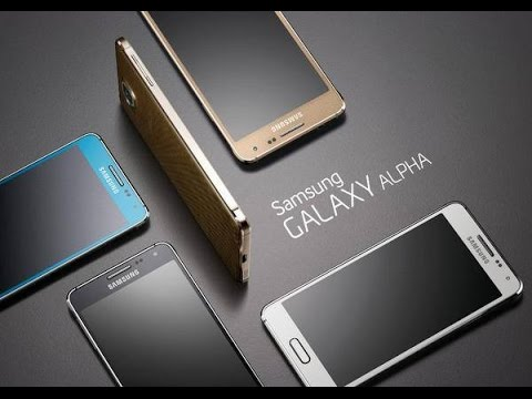 Youtube Video Samsung Galaxy Alpha G850F in frosted gold