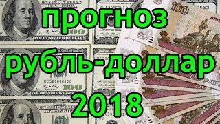 рубль доллар, прогноз 2018