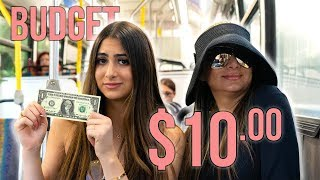 LIVING OFF OF $10 FOR A DAY (we had to ride the bus)