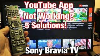 Sony Bravia TV: YouTube App Not Working, Frozen, Stuck on Buffering, Black Screen FIXED!!!