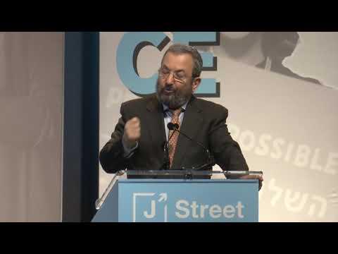 Former PM Ehud Barak at J Street's 2019 National Conference