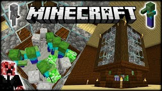 The Minecraft MOB FARM INSIDE A MANSION! | Let's Play Minecraft Survival | Episode 9