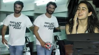 Sara Ali Khan & Sushant Singh Rajput Spotted At Abhishek Kapur Office