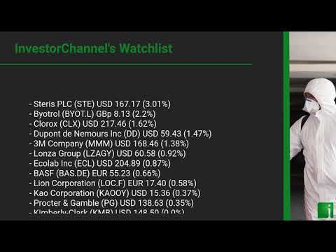 InvestorChannel's Disinfection Watchlist Update for Monday ... Thumbnail