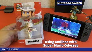 Using amiibos with Super Mario Odyssey