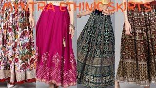 Myntra Ethinic Skirts(27 Skirts) || Stylish And Beautiful Long Skirts ||Dimple Fashion