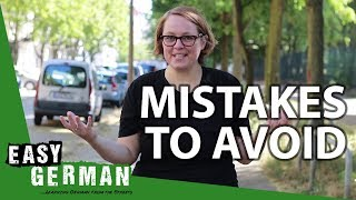 4 Mistakes to avoid when starting to learn German | Super Easy German (79)