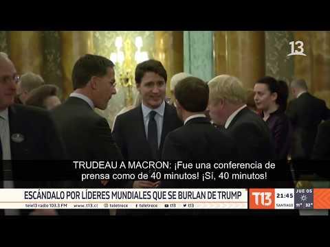Escándalo por líderes mundiales que se burlan de Donald Trump