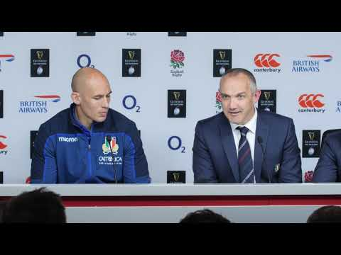 Press Conference: Conor O'Shea and Sergio Parisse after England v Italy | Guinness Six Nations