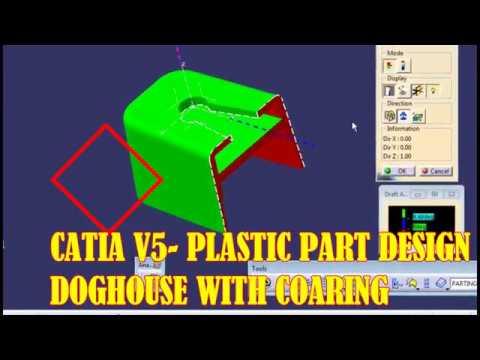 CATIA V5-Plastic Part Design- How to make RIB - смотреть онлайн на
