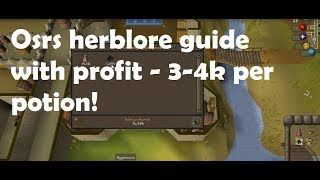 Osrs Herblore Guide With Profit