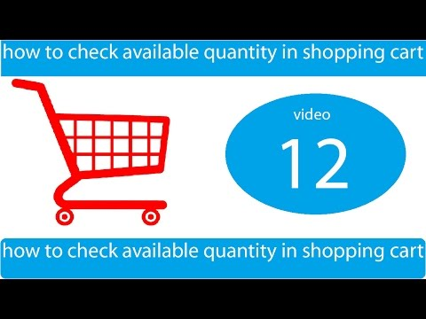 how to check available quantity in shopping cart