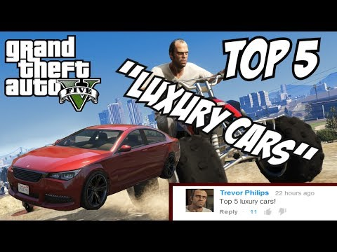 GTA 5 - Top 5 Luxury Cars!! (GTA V Luxury Cars!!)