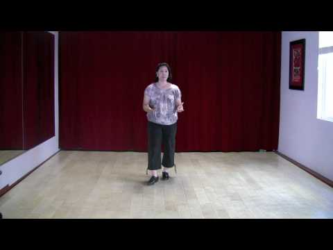 Me teaching a five part exercise for intermediate level dancers in my home studio