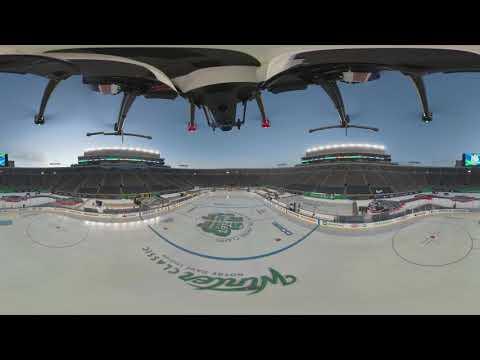 e531fdfdb Get a 360° view of Notre Dame Stadium before the 2019 Bridgestone NHL Winter  Classic