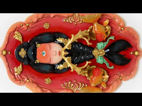 '小金鱼 Little Goldfish' Making Process | OOAK Clay Sculpture