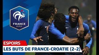 Espoirs : les buts de France-Croatie (2-2) I FFF 2018