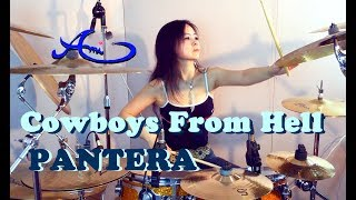 PANTERA - Cowboys from hell drum cover by Ami Kim (18th)