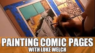 Painting Comic Pages - with Luke Welch