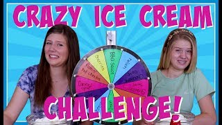 MYSTERY WHEEL OF ICE CREAM SUNDAE CHALLENGE || Taylor And Vanessa