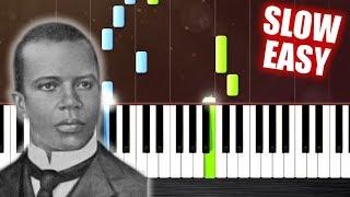 Scott Joplin - The Entertainer - SLOW EASY Piano Tutorial by PlutaX