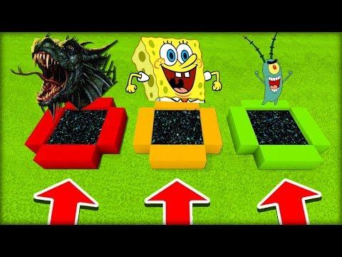 NEVYBER SI ŠPATNÝ PORTÁL V MINECRAFTU! (Šílený Drak, Spongebob, Plankton)