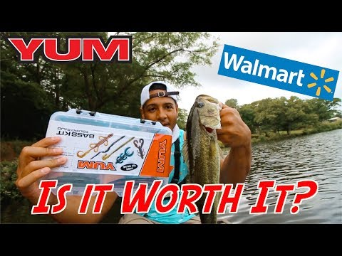 Yum 48 Bass kit Review Bass Fishing Walmart CHALLENGE!!!!!! – Lures and Tackle to Buy – How to Fish