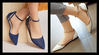 Comfortable Easy To Wear Flat Sandals And Shoes Design - Flat Shoes Wear Casually On Every Dress