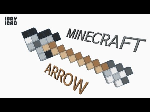 [1DAY 1CAD] MINECRAFT ARROW (Tinkercad : Know-how / Style / Education) [STL Download]z