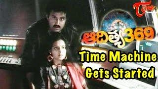Time Machine Gets Started Aditya 369 Movie Scene
