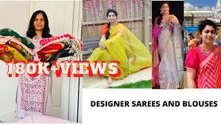 Designer SAREE Collection With BLOUSES Part  1