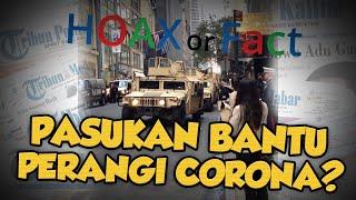Hoax: Bantu Perangi Virus Corona, Pasukan Tentara Datang ke Jalan Manhattan, New York?