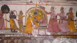 Murals of Rajmahal Palace, Orchha
