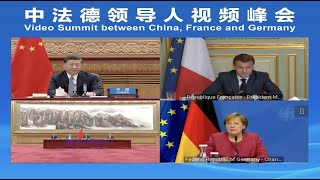 Leaders of China, France, Germany Discuss Climate Issues Via Video Summit
