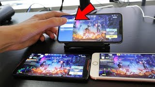CHEATING in Fortnite Mobile.. (Secret way to play with BOTS)