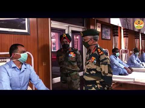 Army Chief Visits Injured Troops at Leh Hospital