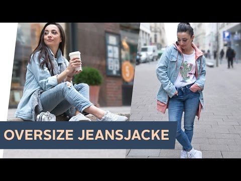 HOW TO STYLE: 3 Streetstyle Looks mit Oversize Jeansjacke  ~ refashion | OTTO