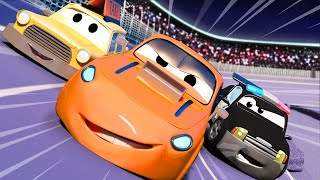 Car Patrol -  The Big Race - Car City ! Police Cars and fire Trucks for kids
