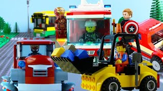 LEGO City Vehicles STOP MOTION LEGO Trucks, Bus, Cars | LEGO City | Billy Bricks Compilations