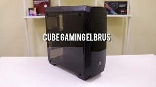CUBE GAMING ELBRUS WHITE or Black - Full Acrylic Window - 1 x 12CM Led Fan - Dust Filter - USB 3.0